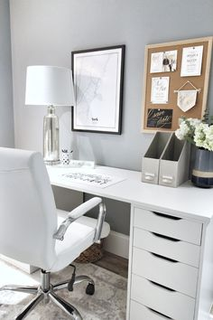 Ikea Alex Table Top Desk Hack Office nook from Ikea Marvelous Ikea Hacks Ideas for Home Decor Such a beautiful dressing table from featuring our Diaz Hollywood Mirror. Bureau Alex Ikea, Ikea Alex Desk, Ikea Alex Drawers, Study Desk Ikea, Ikea Desk Top, Ikea Hemnes Desk, Ikea Linnmon Desk, Desk With Drawers, Design Your Home