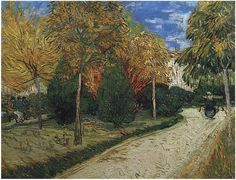 The Public Park at Arles by Vincent Van Gogh  Painting, Oil on Canvas  Arles: October, 1888