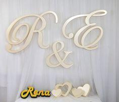 Inicjały – monogramy ślubne R&E