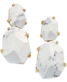 kate spade new york 14k Gold-Plated Stone Drop Earrings