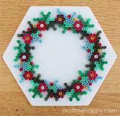 Craft me Happy! Perler Bead Designs, Perler Bead Templates, Hama Beads Design, Hama Beads Patterns, Beading Patterns, Peyote Patterns, Mini Hama Beads, Diy Perler Beads, Perler Bead Art