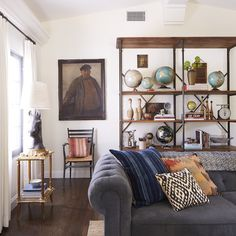 Rustic Spanish California Home - The Living Room | Style by Emily Henderson