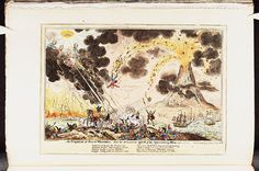 17 June 1815.Bodleian Libraries,An eruption of Mount Vesuvius and the anticipated effects of the approaching storm.Satire on the Napoleonic wars. (British political cartoon)