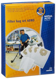 Nilfisk-Alto 302002404 Filter Bag Kit - Blue * Read more reviews of the product by visiting the link on the image. (This is an affiliate link) #MowersandOutdoorPowerTools