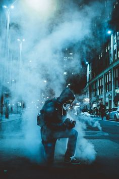 Smoke Bomb Photography Night A wedding is just a ceremony where two or more people Story Inspiration, Character Inspiration, Night Street, Smoke Bomb Photography, Photography Ideas, Photography Music, Photography Courses, London Photography, Night Photography