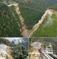 Hegigio Gorge Pipeline Bridge in the Southern Highlands Province of Papua New Guinea