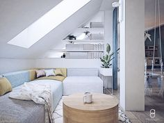 kids attic playroom/ bawialnia na poddaszu / relax zone Attic Playroom, Anna, Relax, Loft, Bed, Furniture, Home Decor, Decoration Home, Stream Bed