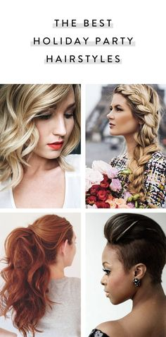 Here is a little holiday party inspiration for your hair, whether you bring to your stylist or try on your own.
