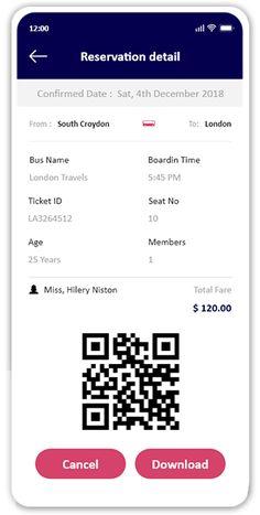 Android Design, App Ui Design, Interface Design, Bus Tickets, Online Tickets, Bus App, Bus Information, X Project, Ticket Design