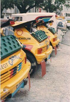 Peugeot 205 in Paris-Dakar format.