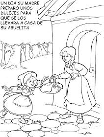 Caperucita Roja Coloring Pages For Kids, Coloring Books, Red Riding Hood Party, Puppet Show, Little Red, Nursery Rhymes, Art For Kids, Fairy Tales, Kindergarten