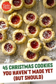 45 Christmas Cookies You Haven't Made Yet (But Should) Cookie Desserts, Holiday Desserts, Holiday Baking, Holiday Recipes, Dinner Recipes, Baking Cookies, Sugar Cookies, Dinner Menu, Cute Christmas Desserts