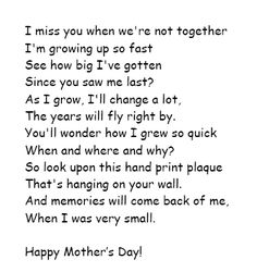 mothers day poems toddlers Google Search Work Pinterest