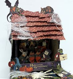 Halloween Spooky House, Halloween in Wonderland, by Einat Kessler, product by Graphic 45 photo 10 Spooky House, Halloween Haunted Houses, Halloween House, Magic Of Oz, Halloween Home Decor, Graphic 45, Source Of Inspiration, Altered Art, Wonderland