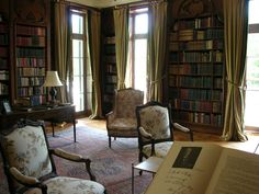 """""""Edith Wharton's Library.Edith Wharton designed her library for her own pleasure at the Mount in the Berkshires starting year 1902..."""""""