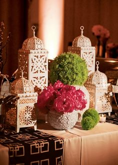 Candle Lit Lanterns And Bold Flowers Eid Al Adha Eid Mubarak Eid Decorations