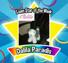 Thank you for sharing this little pup with us, its uncanny on how realistic she looks. It looks like she is ready to go out for a walk! With her little red tongue, we couldn't resist this puppy's charm. Congratulations to Dalila Paradis for being selected as this weeks Loom Star of The Week! #FBLoomStaroftheWeek