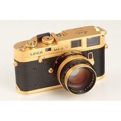 Leica M4-2 Gold 'Oskar Barnack'. 24K gold, baby.