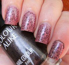 m85 holographic stamping #nails #nailart #nailpolish #holographic #nailstamping