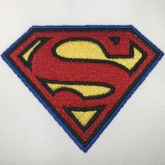 [Single Count] Custom and Unique by 1 Inches) DC Comics Superman Logo Iron On Embroidered Applique Patch {Red and Yellow Colors} Iron On Embroidered Patches, Iron On Applique, Sew On Patches, Iron On Patches, Superman Logo, Painted Wine Glasses, Print Coupons, Amazon Art, Dc Comics