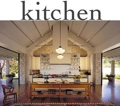 Indoor/Outdoor Modern Rustic Kitchen.