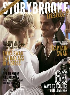 They NEED to make a Storybrooke magazine Once upon a time - Captain Hook - Colin O'donoghue - Killian Jones - Jennifer Morrison - Emma Swan – #CaptainSwan #OUAT