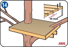Lär dig att bygga en trädkoja till barnen med de enkla anvisningarna från Gör det själv för nybörjare.