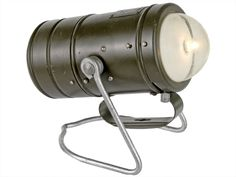 1960's West German Army Signal or Field Lamp by Varta
