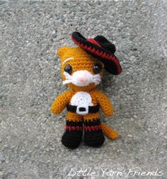 Puss in Boots! Download this free pattern at Amigurumipatterns.net - Awwwwwwwwwwwwwwwwwwwww!