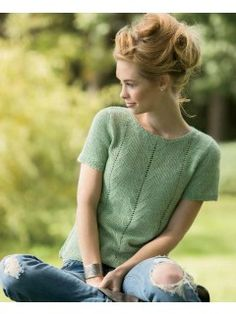 Knitting pullover summer top pattern Ideas for 2019 Knitting Daily, Summer Knitting, Easy Knitting, Sweater Knitting Patterns, Knitting Stitches, Knitting Designs, Crochet Patterns, Diy Pullover, Top Pattern