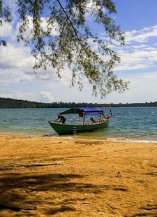 bamboo island cambodia Bamboo Island is an hour off the coast, near the town of Sihanoukville