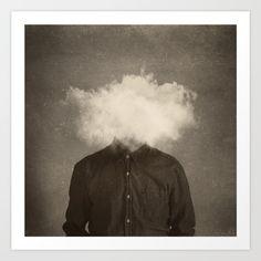 Head In the clouds Art Print