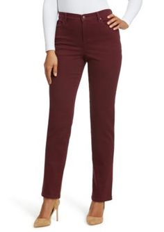 Gloria Vanderbilt Women's Straight Leg Comfort Fit Jeans - True Fig - 16P