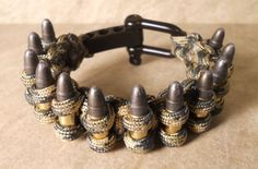Paracord Bracelet holds 12 bullets with Stainless Steel Clasp item #116