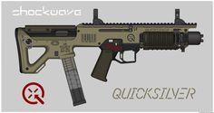Quicksilver Industries: 'Wildcat' SMG by Shockwave9001.deviantart.com on @DeviantArt