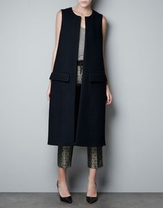 STUDIO WAISTCOAT - Coats - Woman - ZARA ~ 9/14 ~Waiting for mine to arrive! ~ 9/18 GOT IT!!
