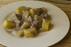 Spezzatino con patate e mele in saccoccio