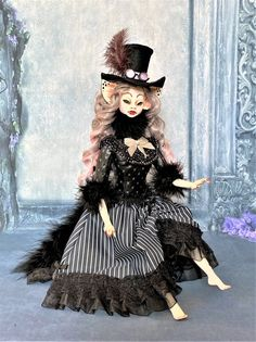 Made To Order Art Doll Cat Lady Betsy Collectible Doll | Etsy