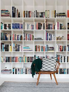 floor to ceiling bookshelves