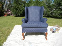 Another paint a (FABRIC!) chair tutorial