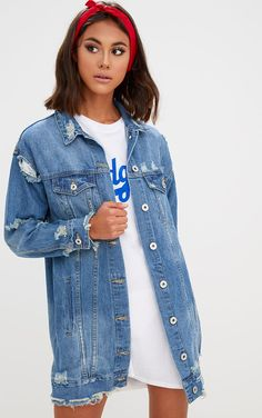 1cc60df20c76 13 Best Distressed denim jackets images in 2018 | Jackets, Couture ...