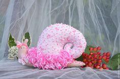 Купить Улитка Адель в стиле Тильда - розовый, улитка, Уля, улитка Тильда, улитка в подарок
