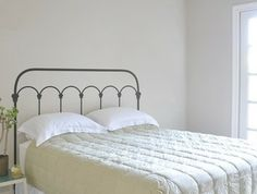 Wrought Iron Headboard Wall Decal eclectic decals. But I need a real iron heaboard!