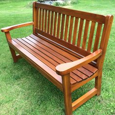 Inch dimensions: Height 37 – Width 63 – Depth 24 Superb straight bench c … – Woodworks Outdoor Furniture Bench, Sectional Patio Furniture, Wood Sofa, Diy Furniture, Outdoor Chairs, Garden Bench Plans, Wooden Garden Benches, Wooden Sofa Set Designs, Living Room Tv Unit Designs