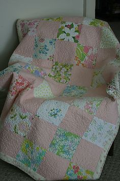 vintage.  I love these quilts made from simple squares.