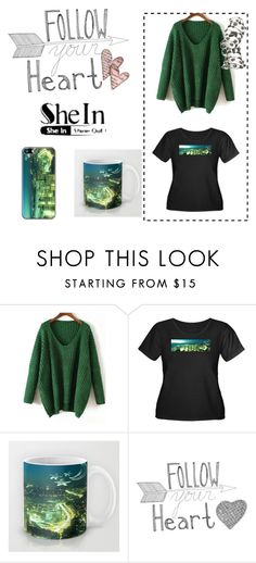 SheIn green Sweater - Seattle Emerald City by stine1online on Polyvore featuring Fashion and Seattle: Comfy green sweater by SheIn combined with some of my emerald green Seattle products.