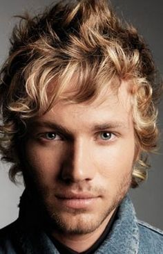 Sandy Blonde Hair Color and How to Maintain it : Just for Men Sandy blonde Hair Color. Just for men sandy blonde hair color. Sandy Blonde Hair, Blonde Curls, Blue Hair, Curly Blonde, Men With Blonde Hair, Mens Hairstyles 2014, Quiff Hairstyles, Blonde Hairstyles, Undercut Hairstyle