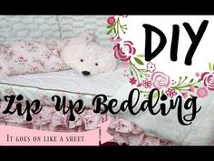 DIY Zip up bedding! ( goes on like a sheet). Hello hello everyone! I have been seeing these zip up bedding sheets in almost every ad and cute kid room pictures but have not seen one tutorial on how to make it yourself. So I took it upon myself to make one Zip Up Bedding, Teen Bedding, Bedding Sets, Quilt Bedding, Bedding Storage, Rv Bunk Beds, Beddys Bedding, Diy Bett, Floral Bedding