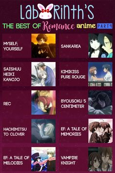 Labyrinth's The Best of Romance Anime [PART Myself;Yourself Sankarea Saishuu Heiki Kanojo KimiKiss Pure Rouge Rec Byousoku 5 Centimeter Hachimitsu to Clover Ef: A Tale of Memories Ef: A Tale of Melodies Vampire Knight romance Manga Anime, Otaku Anime, Good Anime To Watch, Anime Watch, Anime Love, Anime Comics, Comic Anime, Vampire Knight, Animé Romance