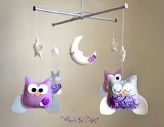 purple and grey nursery - Google Search. So wish I would have seen these before I bought the ones from walmart!
